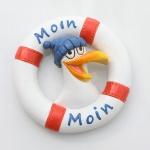 Magnet Rettungsring mit Möwe Moin Moin