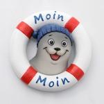 Magnet Rettungsring mit Seehund Moin Moin