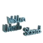 "Deko-Schriftzug ""Wellen/Urlaub/Strand"" sort."