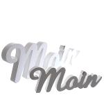 Schriftzug Moin ca.25x2x9cm MDF