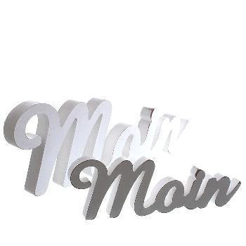 Schriftzug Moin ca.39x2x14cm MDF