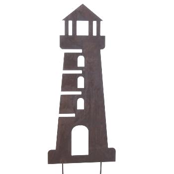 Naturrost Metallstecker Leuchtturm