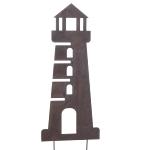 Stecker Leuchtturm Naturrost Metall
