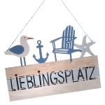 Schild Lieblingsplatz Maritim