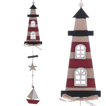Hänger Leuchtturm Sperrholz ca.7x50cm