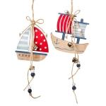 Anhänger Segelschiffe mit Glöckchen