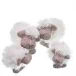 Schaf mit Plüschfell 2-fach sort.