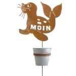 Stecker Seehund Moin mit Pflanztopf
