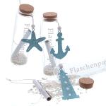 Flaschenpost sortiert mit Anker/Seestern/LT
