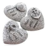 Herz mit Sprüchen 3-fach sort.grau