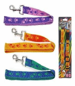 Hundehalsband mit Leine ca.120cm 2cm breit für mittlere Hunde