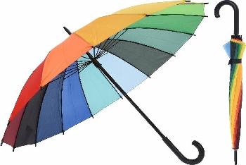 Regenschirm Regenbogenfarben 98cm