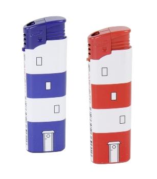 Feuerzeug sortiert LT rot/blau 50er Display