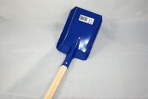 Metalldamenschaufel blau ca.80cm Holzstiel