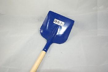 Metallkinderschaufel blau ca.70cm Holzstiel