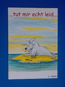 Emma-Postkarte Tut mit echt leid