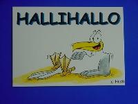Emma-Postkarte Halli Hallo