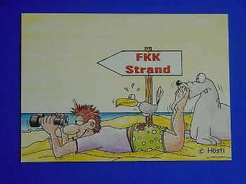 Emma-Postkarte FKK Strand