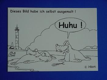 Emma-Postkarte Huhu! zum selbstmalen