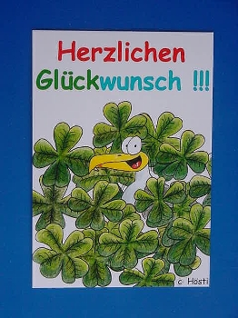 Emma-Postkarte Herzl. Glückwunsch!