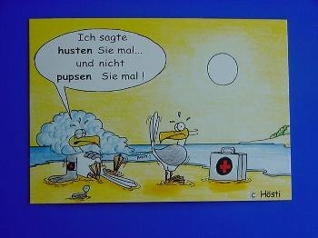 Emma-Postkarte ...nicht pupsen