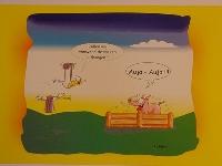 Emma-Postkarte Holland varken uithangen