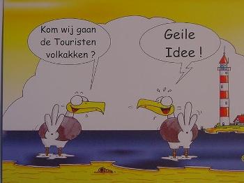 Emma-Postkarte Holland Touristen volkakken