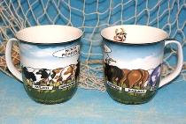Hösti Becher 5 Kühe ca.10x9cm Porzellan