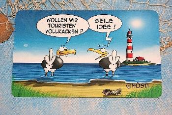 Hösti Frühstücksbrett Touristen vollkacken (Resopal) ca.23x14cm