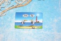Hösti Foto Magnet ca.8x5cm Touristen vollkacken