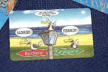 Hösti Frühstücksbrett Steuerbord/Backbord (Resopal) ca.23x14cm