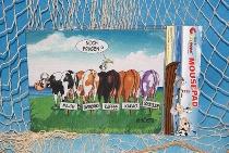 Hösti Mouse Pad 5 Kühe ca.22x18cm