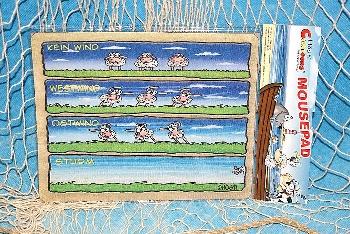 Hösti Mouse Pad Wissensdurst ca.22x18cm