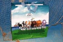 Hösti Tasche 5 Kühe ca.45x45x17cm Kunststoff