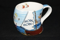 Gravurbecher Wind Moin Moin ca.8x8cm Keramik