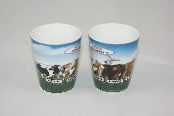 Hösti Eierbecher 5 Kühe ca.6x4cm Porzellan