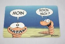 Hösti Frühstücksbrett Moin schon wach (Resopal) ca.23x14cm