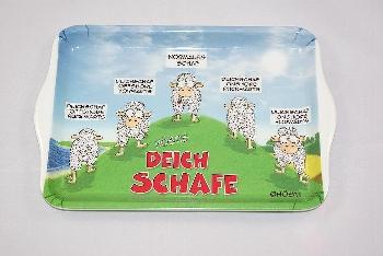 Hösti Tablett Melamin 21x14,5cm Deichschafe