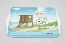 Hösti Tablett Melamin 21x14,5cm Vogelwarte
