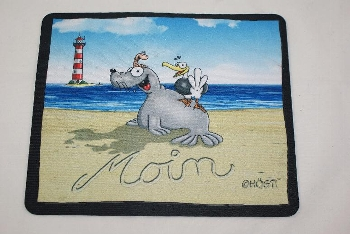 Hösti Mouse Pad Moin mit Leuchtturm ca.22x18cm