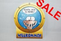 Hösti Schild Willkommen ca.24x20cm MDF