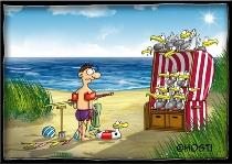 Postkarte Strandkorb