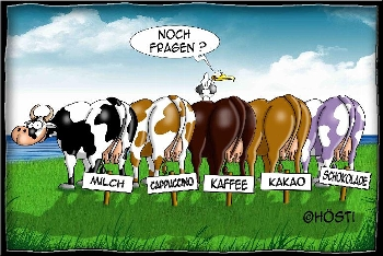 Postkarte Kühe