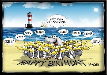 Postkarte Birthday