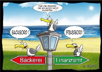 Postkarte Backbord - Steuerbord