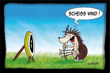 Postkarte Scheiss Wind