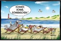 Postkarte Sommer Sonne Sonnenschein