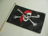 Stockflagge Pirat Kopftuch ca. 37x27 cm