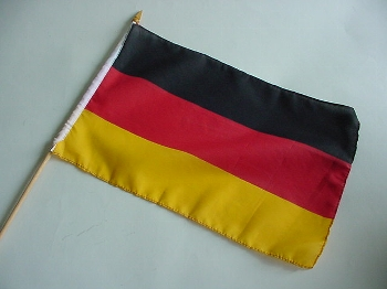 Stockflagge BRD ca. 37x27 cm