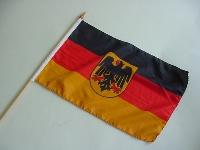 Stockflagge BRD Adler ca. 37x27 cm